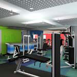 Fitness Center 01 - Render gallery - architectural rendering